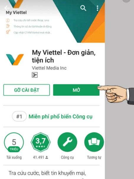 Cài đặt app My Viettel