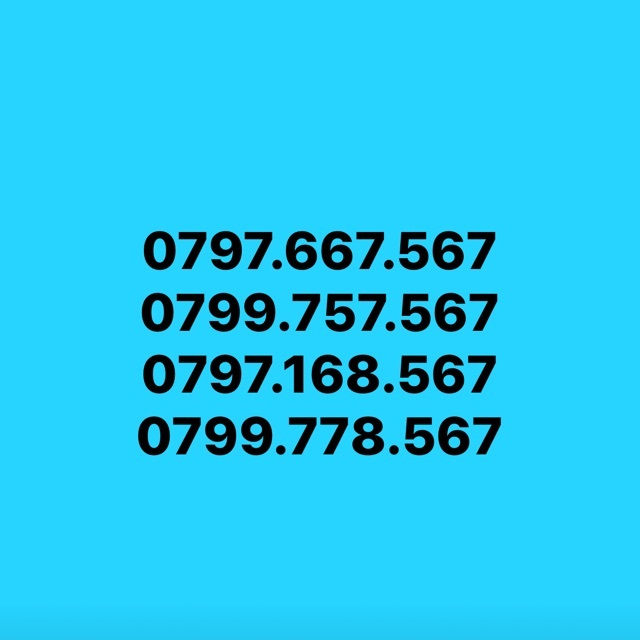 Đầu số 0799 của nhà mạng Vinaphone