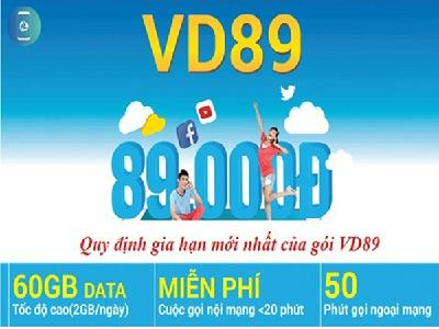 Gói VD89 Của Vinaphone Nhận 60GB Data, Ưu Đãi Cước Gọi
